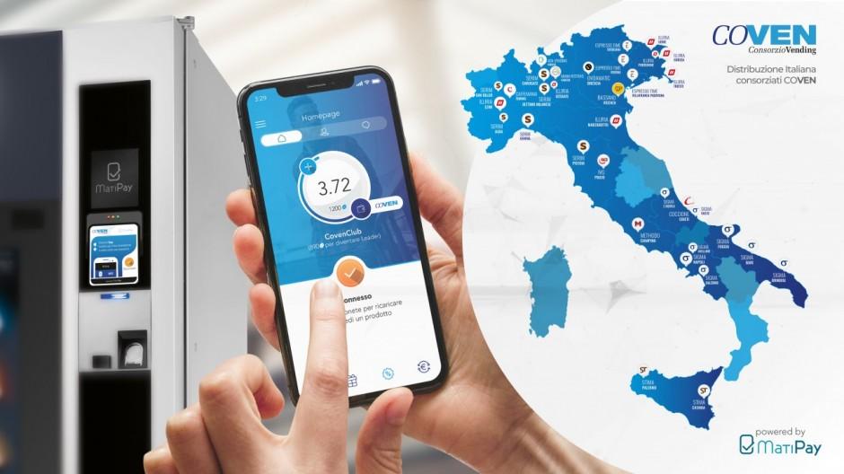 Coven sceglie MatiPay di SITAEL come soluzione di Pagamento Mobile e Telemetria