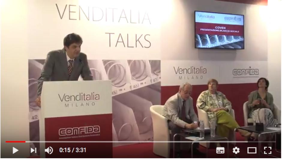 La presentazione Bilancio Sociale Coven 2017 a Venditalia 2018